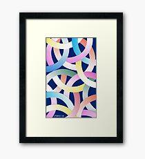 PLAYFUL PASTEL Framed Print