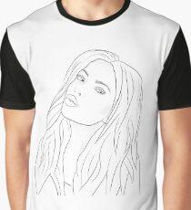 Ashley Benson Outline Graphic T-Shirt