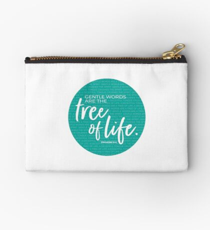 Proverbs 15:4, Gentle words are the tree of life Studio Pouch