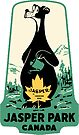 Jasper National Park Alberta Vintage Travel Decal by hilda74