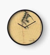 Map of Antarctic 1909 Clock