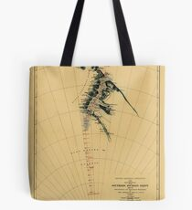 Map of Antarctic 1909 Tote Bag