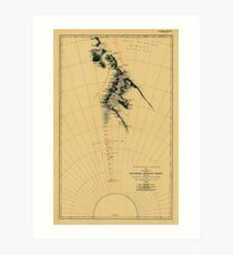 Map of Antarctic 1909 Art Print