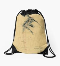 Map of Antarctic 1909 Drawstring Bag
