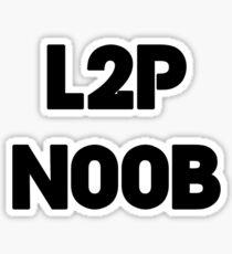 Learn to play N00b Sticker
