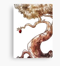 Red and Crooked Canvas Print