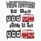What happens in the BUS stays. RED version by thatstickerguy