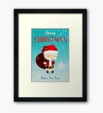 Xmas Santa Framed Print