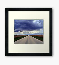 Two Lanes - No Waiting Framed Print