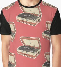 Vintage Record Player Graphic T-Shirt