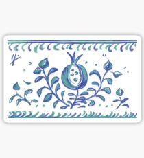 Granada · Céramica al estilo Albayzin · Símbolo de vida, amor y felicidad Pegatina