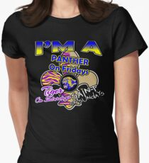 I'm A Panther On Fridays, Tiger On Saturdays, Saint On Sundays Womens Fitted T-Shirt