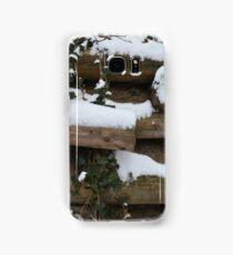 Snow covered wall in Austria Samsung Galaxy Case/Skin