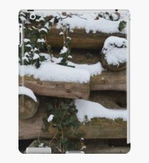 Snow covered wall in Austria iPad Case/Skin