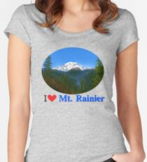 Mt Rainier Women's Fitted Scoop T-Shirt