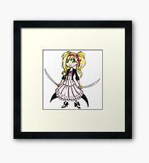 cute girl Framed Print