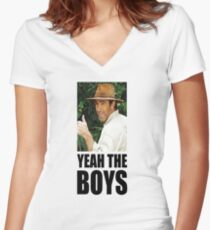 yeah the boys Women's Fitted V-Neck T-Shirt