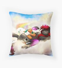 Nap in the Sky Throw Pillow