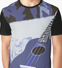 Blue Ukulele  Graphic T-Shirt