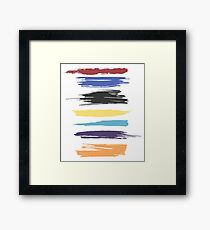 Paint Strokes Artistic Abstract Color Streaks Framed Print