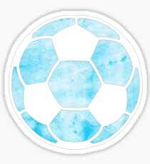 Soccer Ball Light Blue Sticker