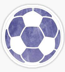 Fußballkugel lila Sticker