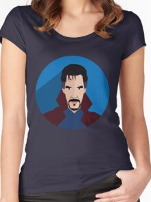 doctor strange fanmade Women's Fitted Scoop T-Shirt