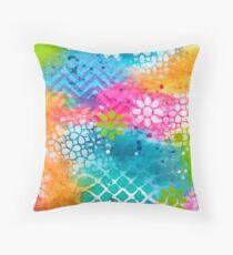 """Rainbow"" Original Design by PhillipaheART Throw Pillow"
