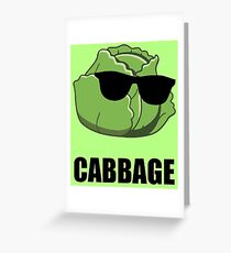 Cool Cabbage Greeting Card