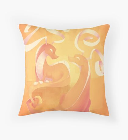 Dragons Throw Pillow