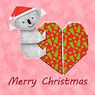 Koala Origami and its Heart gift wrapped for Christmas  by JumpingKangaroo