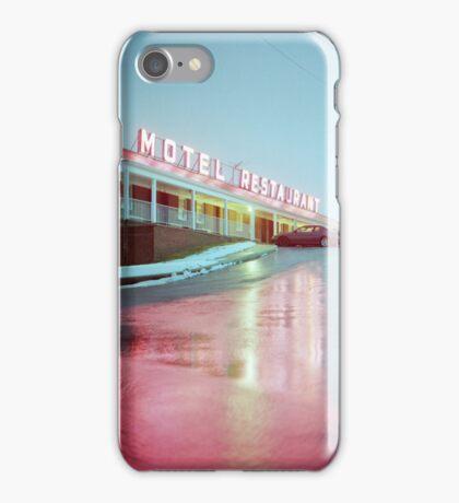 Rainy Motel Lights  iPhone Case/Skin