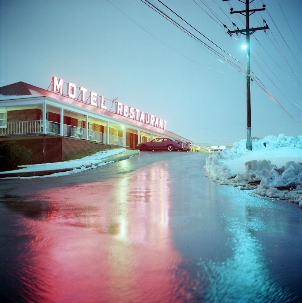 Rainy Motel Lights  by Daniel Regner