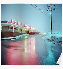 Rainy Motel Lights  Poster