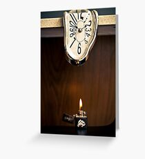 Melting Clock Greeting Card