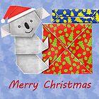 Koala Origami and its mystery Christmas Gift boxes by JumpingKangaroo