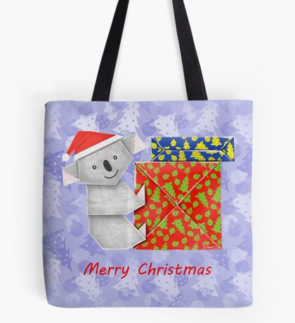 Koala Origami and its mystery Christmas Gift boxes Tote Bag