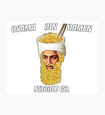 Osama Bin Ramen Noodle Co. Photographic Print