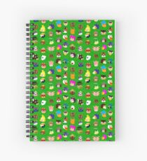 Animal Crossing Pattern A, B, C & D Spiral Notebook