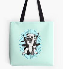 BAD dog – blue armed pug Tote Bag