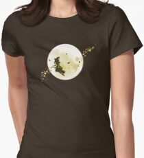 Flying Witch over Full Moon T-Shirt