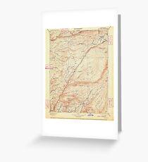 USGS TOPO Map California CA Big Trees 299219 1901 125000 geo Greeting Card