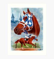 Secretariat Triple Crown Winner Art Print