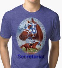 Secretariat Triple Crown Winner Tri-blend T-Shirt