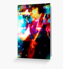 'The Guitarist'  [Inspired by Carlos Santana] Greeting Card