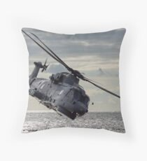 Merlin Helicopter Throw Pillow