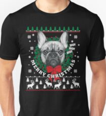 Merry Christmas French Bulldog Unisex T-Shirt