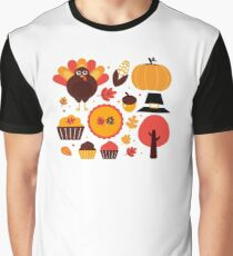 Thanksgiving items set. Vector Illustration Graphic T-Shirt