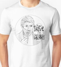 Shave for Sherlock (Lineart) T-Shirt
