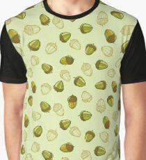 Green acorns pattern Graphic T-Shirt